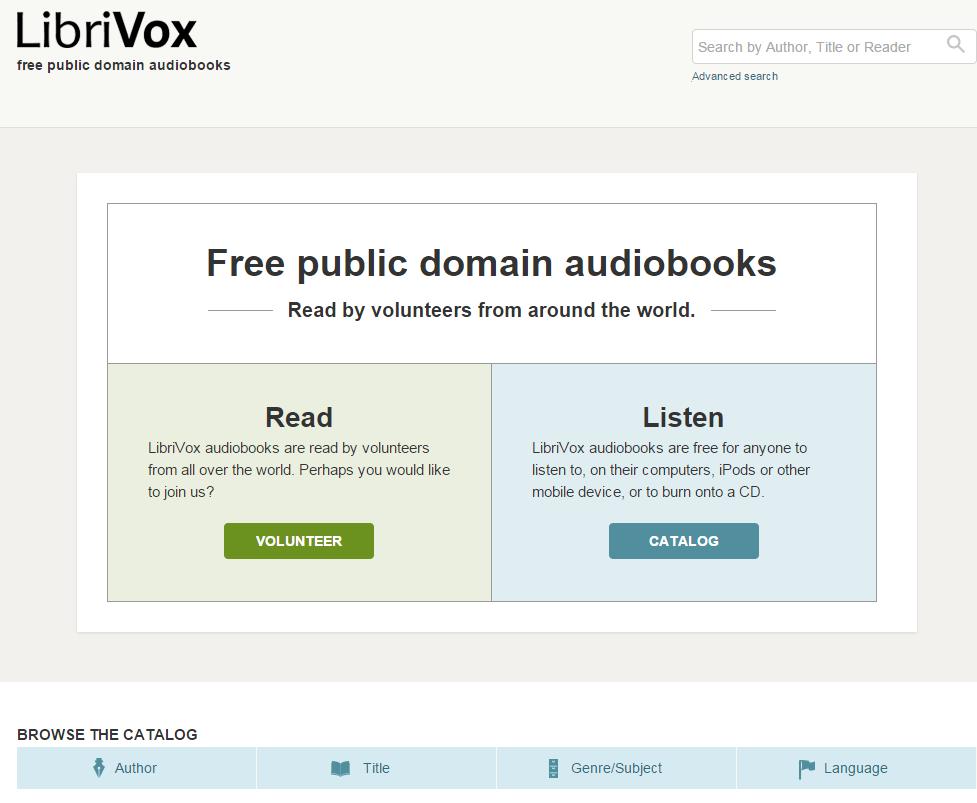 LibriVox – Kostenlose Hörbücher in mehr als 30 Sprachen