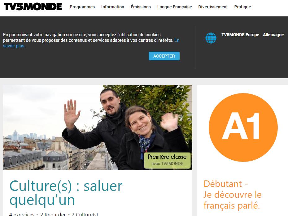 Französisch üben mit TV5Monde